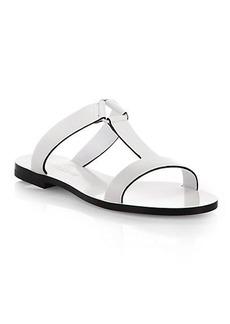 Jil Sander Leather T-Strap Slides