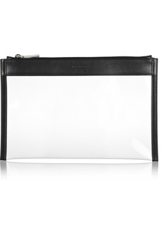 Jil Sander Leather-trimmed PVC clutch
