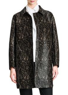 Jil Sander Long Leather Speckled Coat