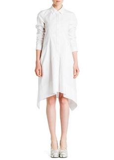 Jil Sander Long-Sleeve Button-Front Shirtdress, White