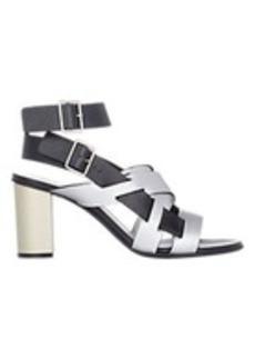 Jil Sander Metallic Multi-Strap Sandals