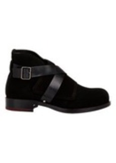 Jil Sander Nubuck Crisscross-Strap Boots