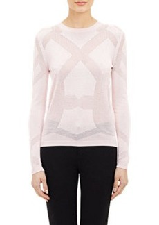 Jil Sander Open-Work Embellished Sweater