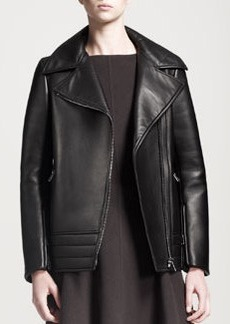 Jil Sander Peel Boxy Leather Jacket