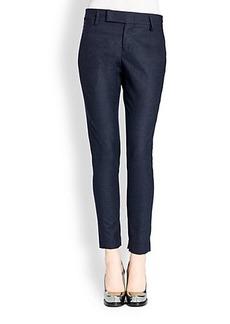 Jil Sander Pier Stretch Wool Slim-Leg Pants