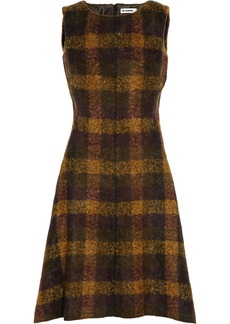 Jil Sander Plaid mohair-blend dress