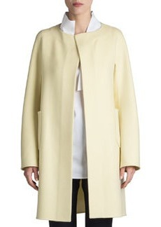 Jil Sander Raipur Collarless Open Coat
