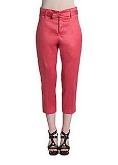 Jil Sander Robin Bow-Belt Cropped Trousers