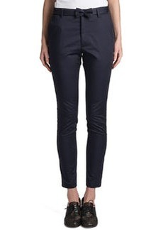 Jil Sander Rocky Bow-Belt Pants, Navy Blue