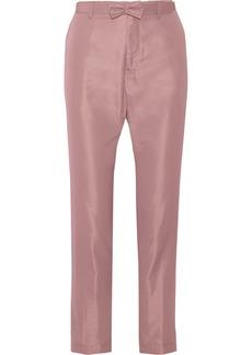 Jil Sander Cotton and silk-blend straight-leg pants