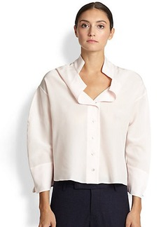 Jil Sander Rounded Silk Blouse