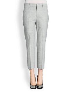 Jil Sander Salim Stretch Wool Cropped Pants