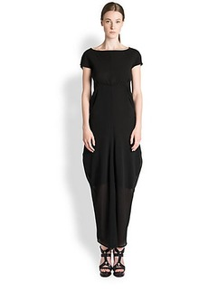 Jil Sander Silk Georgette Layered Gown