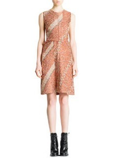 Jil Sander Sleeveless Floral Confetti Dress, Terra Cotta