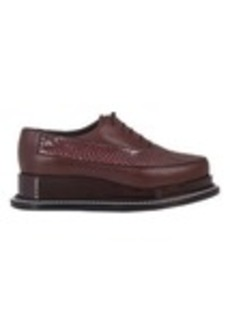 Jil Sander Snake-Trim Platform Oxfords
