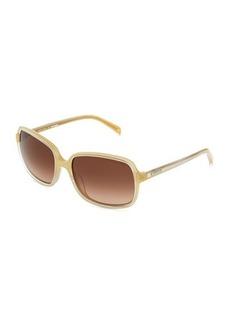 Jil Sander Square Acetate Sunglasses