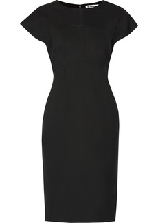 Jil Sander Stretch-wool and silk blend dress