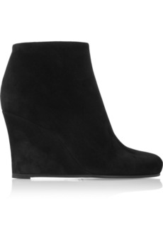Jil Sander Suede wedge ankle boots