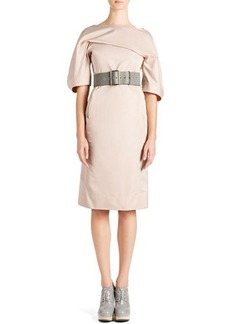 Jil Sander Techno-Duchesse Drape Dress