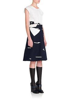 Jil Sander Tweet Mixed-Media Dress
