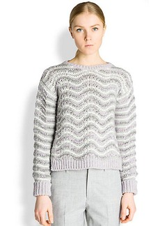 Jil Sander Wavy Stitch Sweater
