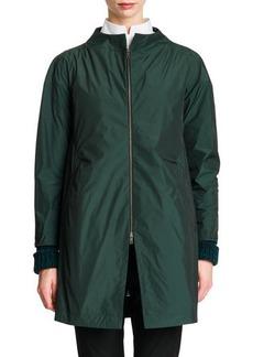 Jil Sander Zip-Front Collarless Tech Jacket