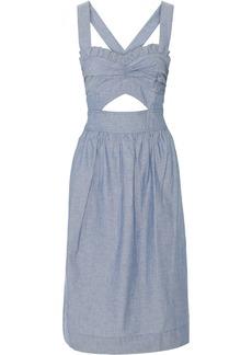 Jill Stuart Bridgette cutout denim dress