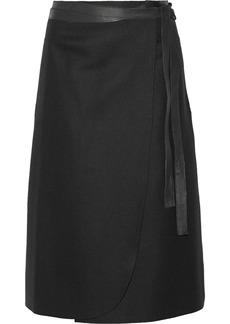 Jill Stuart Elle tie-waist wool midi skirt