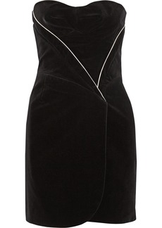 Jill Stuart Emily wrap-effect velvet dress
