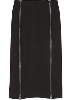 Jill Stuart Iza zip-detailed wool-blend skirt