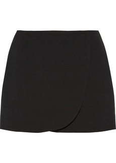 Jill Stuart Jen wrap-effect wool-blend mini skirt