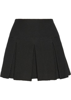 Jill Stuart Kristiana pleated matelassé mini skirt