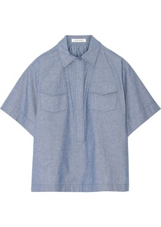 Jill Stuart Melda Oxford cotton top