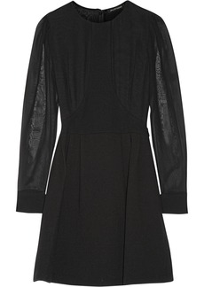 Jill Stuart Pelin silk-paneled wool-blend crepe mini dress