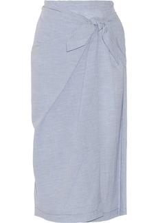 Jill Stuart Wrap-effect cotton skirt
