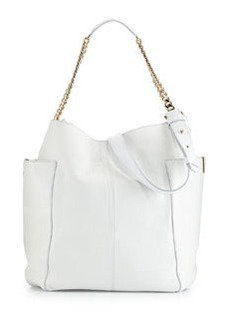 Anna Leather Tote Bag, White   Anna Leather Tote Bag, White