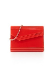 Candy Lacquered Asymmetric Clutch Bag, Orange   Candy Lacquered Asymmetric Clutch Bag, Orange