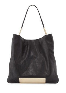Charlie Leather Tote Bag, Black   Charlie Leather Tote Bag, Black