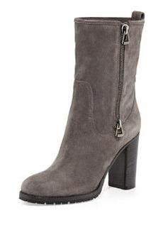 Dawson Suede Side-Zip Boot, Light Quartz   Dawson Suede Side-Zip Boot, Light Quartz