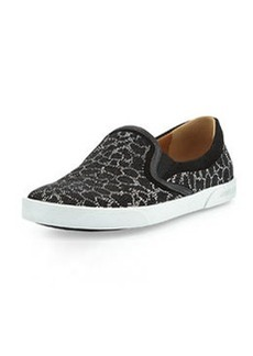 Demi Leopard Studded Skate Shoe, Black/Silver   Demi Leopard Studded Skate Shoe, Black/Silver