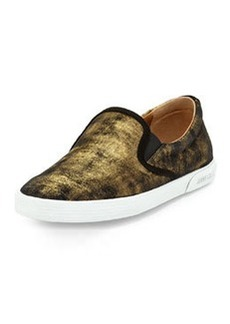 Demi Shimmer Suede Slip-On, Gold   Demi Shimmer Suede Slip-On, Gold