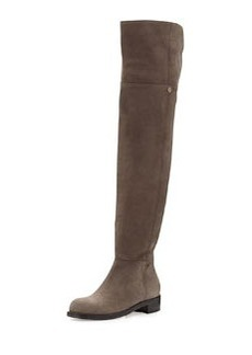 Deron Nubuck Over-the-Knee Boot, Light Quartz   Deron Nubuck Over-the-Knee Boot, Light Quartz