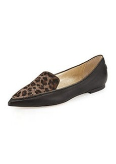 Guild Leopard-Print Calf Hair Loafer, Paloma   Guild Leopard-Print Calf Hair Loafer, Paloma