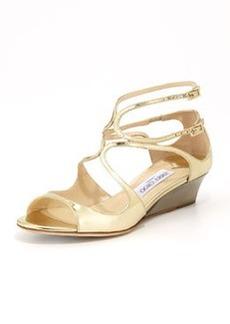 Inka Wedge Mirror Sandal, Gold   Inka Wedge Mirror Sandal, Gold