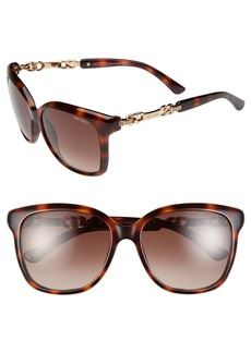 Jimmy Choo 56mm Retro Sunglasses
