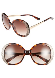 Jimmy Choo 56mm Round Sunglasses