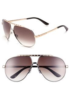 Jimmy Choo 62mm Stainless Steel Aviator Sunglasses