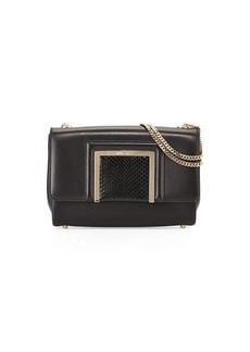 Jimmy Choo Alba Leather & Snakeskin Shoulder Bag