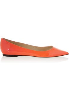 Jimmy Choo Alina neon patent-leather point-toe flats