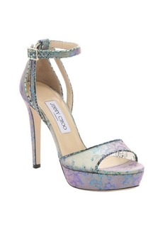 Jimmy Choo aloe mix holographic lace 'Kayden' stiletto sandals